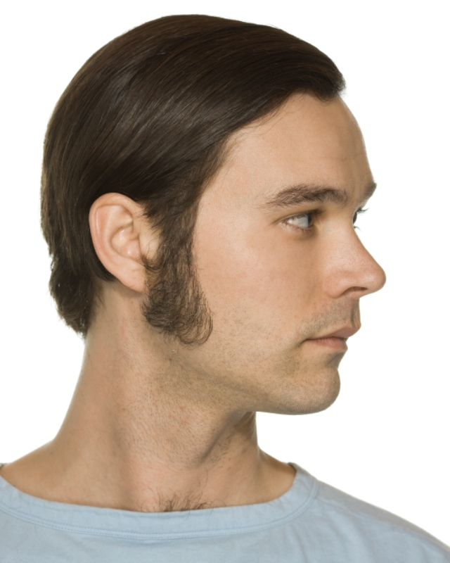 ... film quality costume human facial hair sideburn pure white Medium